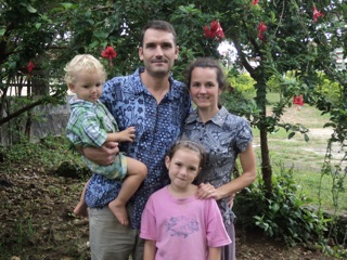 Monica and her family (husband Tom and kids Hannah and Simon)