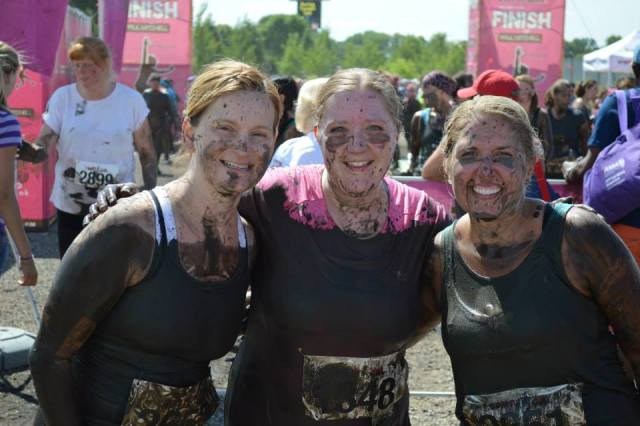 Amy at the Dirty Girl Mud Run-- HFBC has a team every year!
