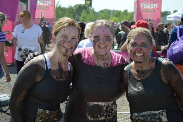 Amy at the Dirty Girl Mud Run-- HFBC has a team every year!