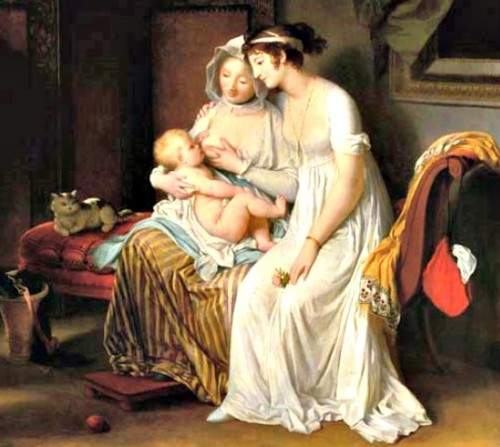 The Wet Nurse, c.1802, by Marguerite Gerard